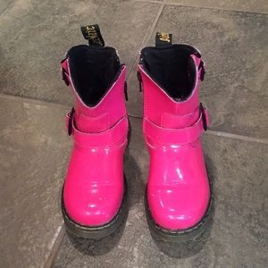 Kids sz 11 Pink patent leather Dr. Martins Blip
